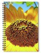 Sunflower Art Prints Orange Yellow Floral Garden Baslee Troutman Spiral Notebook