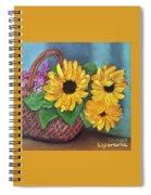 Sunflower Basket Spiral Notebook