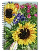 Sunflower Bouquet Spiral Notebook