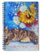 Sunflower Cat Spiral Notebook