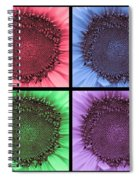 Sunflower Centered Color Collage 4 Spiral Notebook