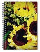 Sunflower Decor 3 Spiral Notebook