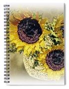 Sunflower Decor 9 Spiral Notebook