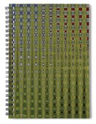Sunflower Field Abstract Spiral Notebook