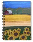 Sunflower Fields Spiral Notebook