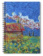 Sunflower House Spiral Notebook