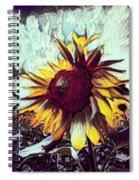 Sunflower In Deep Tones Spiral Notebook
