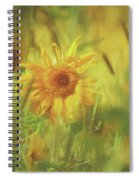 Sunflower In The Wind Painting Spiral Notebook