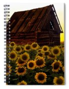 Sunflower Morning With Barn Spiral Notebook