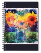 Sunflower Mosaic Spiral Notebook