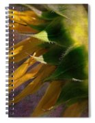 Sunflower On The Side Spiral Notebook