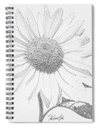 Sunflower  P Spiral Notebook