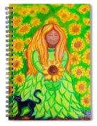 Sunflower Princess Spiral Notebook