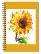 Sunflower With Blues Spiral Notebook