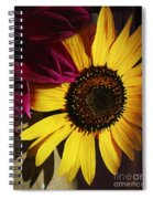 Sunflower With Dahlia Spiral Notebook