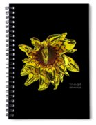 Sunflower With Stone Effect Spiral Notebook