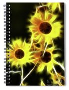 Sunflowers-4955-fractal Spiral Notebook