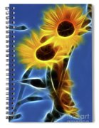 Sunflowers-4969-fractal Spiral Notebook