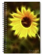 Sunflowers-4986-fractal Spiral Notebook