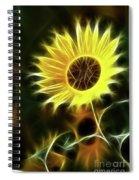 Sunflowers-5200-fractal Spiral Notebook