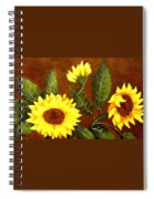 Sunflowers And Dewdrops Spiral Notebook