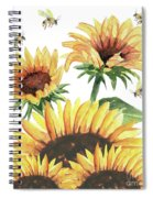 Sunflowers And Honey Bees Spiral Notebook