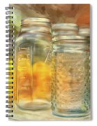 Sunflowers And Jars Spiral Notebook