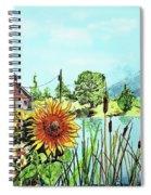 Sunflowers And Jaybird Spiral Notebook