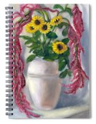Sunflowers And Love Lies Bleeding Spiral Notebook