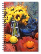 Sunflowers And Oranges Spiral Notebook