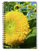 Sunflowers Art Prints Sun Flower Giclee Prints Baslee Troutman Spiral Notebook