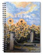 Sunflowers At Rest Stop Near Great Sand Dunes Spiral Notebook