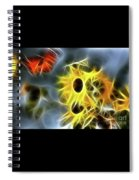 Sunflowers-butterfly-5233-fractal Spiral Notebook