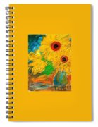 Sunflowers By The Lake Spiral Notebook