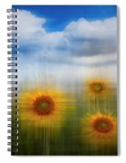 Sunflowers Dreamscape Spiral Notebook