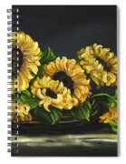Sunflowers From The Garden Spiral Notebook