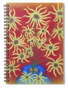 Sunflowers In A Blue Vase Spiral Notebook