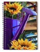Complementary Sunflowers Spiral Notebook