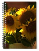 Sunflowers In A Vase Spiral Notebook
