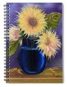 Sunflowers In Vase Spiral Notebook