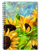 Sunflowers On Holiday Spiral Notebook