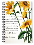 Sunflowers  Poem Spiral Notebook
