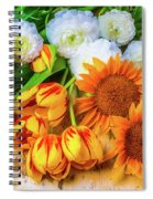 Sunflowers Tulips Spiral Notebook