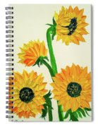 Sunflowers Using Palette Knife Spiral Notebook