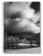 Sunlight Clouds And Snow In Black And White Spiral Notebook