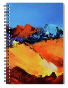 Sunlight In The Valley Spiral Notebook