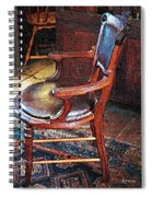 Sunlight On Leather Chair Spiral Notebook