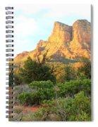 Sunlight On Sedona Rocks Spiral Notebook