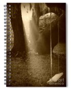 Sunlight On Swing - Sepia Spiral Notebook