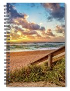 Sunlight On The Sand Spiral Notebook